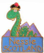 Scotland Nessie Loch Ness Monster Shaped Embroidered Patch - A528